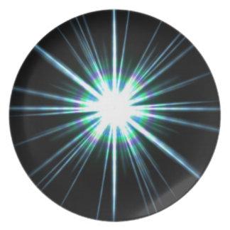 Assiette Éclat lumineux d'éruption chromosphérique
