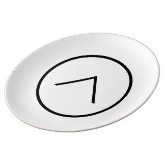 Assiette En Porcelaine Art dans le plat décoratif de porcelaine de