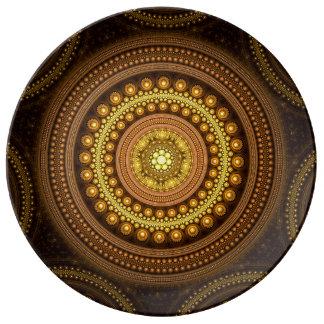 Assiette En Porcelaine Cercles de fractale