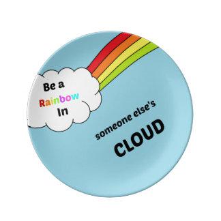 Assiette En Porcelaine cute_rainbow_quote