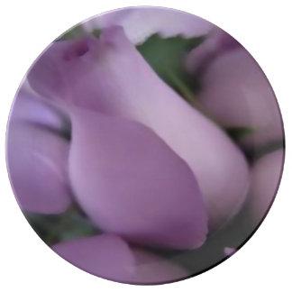 """Assiette En Porcelaine Décoratif, plat 10,75"""" de porcelaine roses"""
