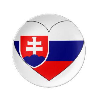 Assiette En Porcelaine Drapeau de la Slovaquie simple