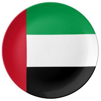 Assiette En Porcelaine Drapeau des Emirats Arabes Unis