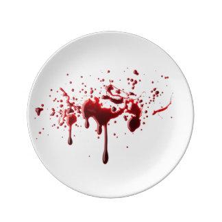 Assiette En Porcelaine éclaboussure 3.png de sang