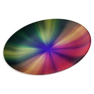 Assiette En Porcelaine Éclair spectral
