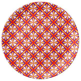Assiette En Porcelaine Effet géométrique de Recoleta de motif