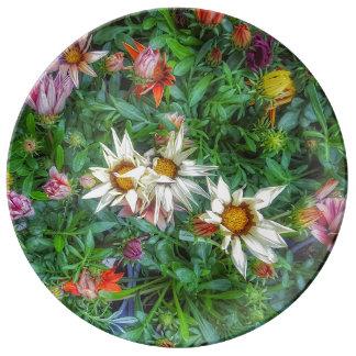 Assiette En Porcelaine Fleur sauvage d'un plat de porcelaine