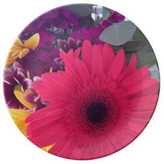 Assiette En Porcelaine Fleurs de marguerite