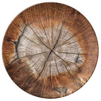 Assiette En Porcelaine Grain en bois