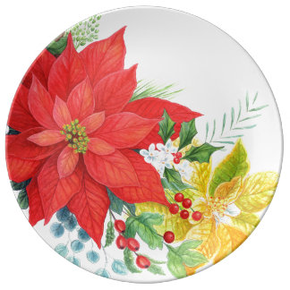 Assiette En Porcelaine Grand plat de Noël abondant