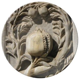 Assiette En Porcelaine Grenade a découpé le plat décoratif de porcelaine