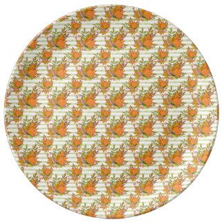 Assiette En Porcelaine Illustration peinte à la main d'automne