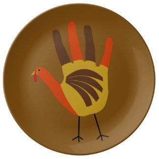 Assiette En Porcelaine La copie mignonne Turquie de main de bon