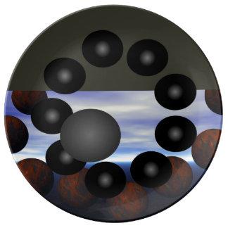Assiette En Porcelaine La Science Geeky de Sci fi de TIGE de plaques