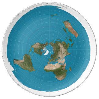 Assiette En Porcelaine la terre plate