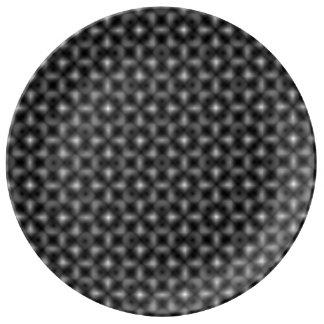 Assiette En Porcelaine La vie noire et blanche de cube par Kenneth