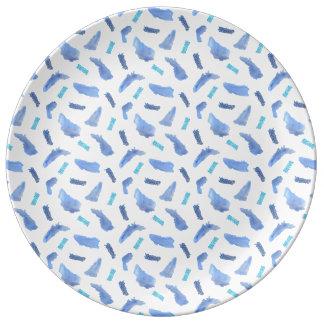 """Assiette En Porcelaine Le bleu repère 10,75"""" plat décoratif de porcelaine"""
