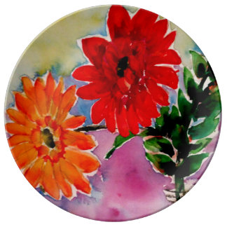 Assiette En Porcelaine Le jardin fleurit les cadeaux collectables de