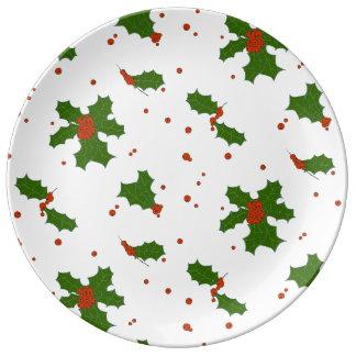 Assiette En Porcelaine L'hiver : Porcelaine heureuse de motif de jours de