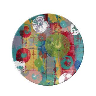 Assiette En Porcelaine Mouvement orbital atomique