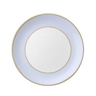 Assiette En Porcelaine Pastel tendre de bleu de ciel de bleus layette