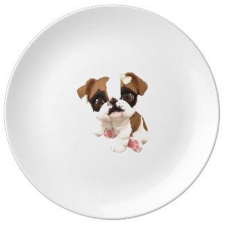 Assiette En Porcelaine Plat anglais de bouledogue
