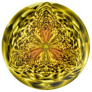 Assiette En Porcelaine Plat décoratif de porcelaine d'art de diamant