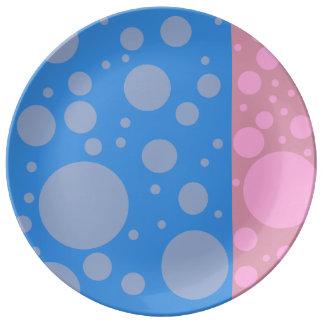 Assiette En Porcelaine Plat décoratif de porcelaine des points 27,3 cm