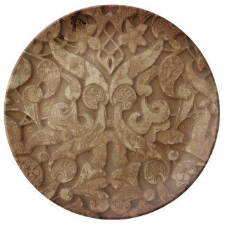 Assiette En Porcelaine Plat décoratif sacré de porcelaine des souvenirs