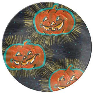 Assiette En Porcelaine Plat étoilé de porcelaine de Halloween de crics