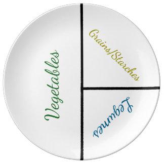 Assiette En Porcelaine Plat maximum de perte de poids (porcelaine)