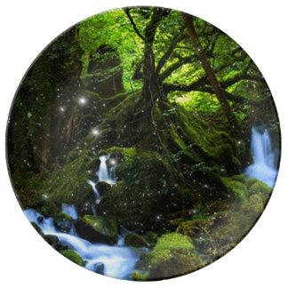 Assiette En Porcelaine Rêves de forêt