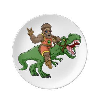 Assiette En Porcelaine rex Bigfoot de rex-T de la Bigfoot-bande dessinée