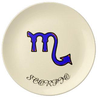 Assiette En Porcelaine Symbole de Scorpion