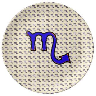 Assiette En Porcelaine Symbole t de Scorpion