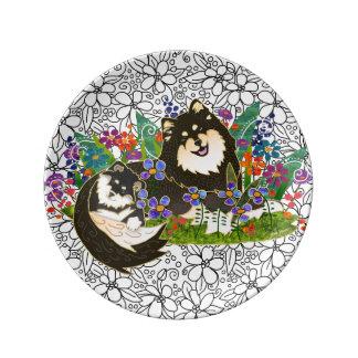 Assiette En Porcelaine Taille finlandaise du plat 2 d'art de porcelaine