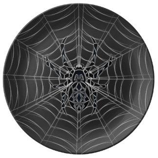 Assiette En Porcelaine Tribal d'araignée