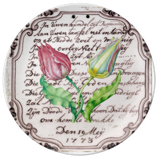 Assiette En Porcelaine Tulipes vintages
