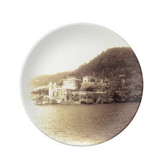 Assiette En Porcelaine Villa Balbianello de Como Italie de lac