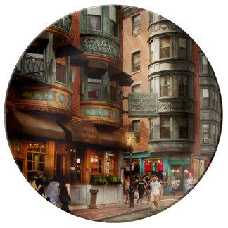 Assiette En Porcelaine Ville - Boston mA - le carré du nord