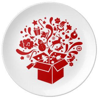 Assiette esprit fête Noël Assiettes En Porcelaine