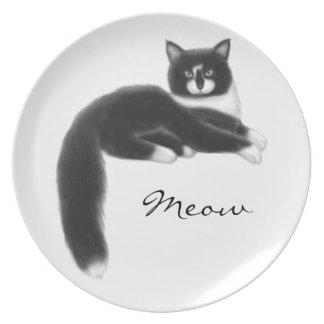 Assiette Felix le plat de chat de smoking