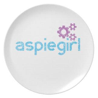 Assiette Femme d'Aspiegirl avec Aspergers