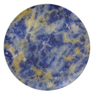 Assiette Fermez-vous d'un Sodalite bleu