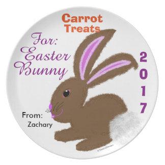 Assiette Festins pour le souvenir personnalisé de lapin de