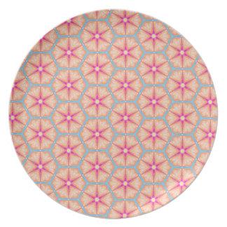 Assiette Flocons de neige bleus roses de biscuits de sucre