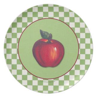 Assiette Frontière vert pomme rouge de contrôles