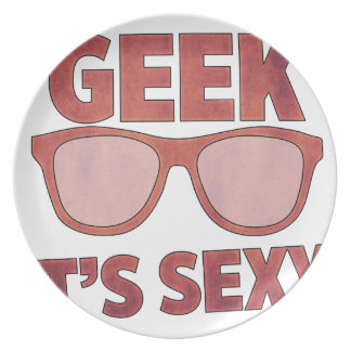 Assiette geek il est sexy
