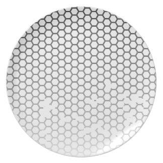 Assiette Grunge de nid d'abeilles