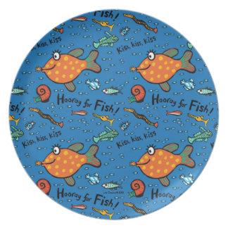 Assiette Hourra pour le motif de poissons